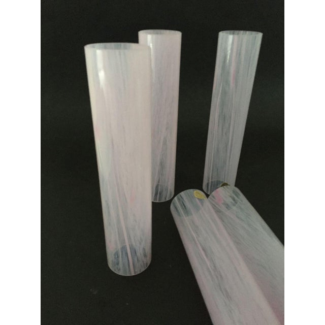 Vintage French Pink Glass Lamp Shades - Set of 5 - Image 5 of 6