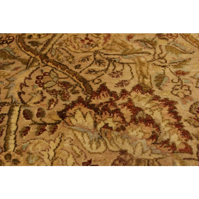 Transitional Pak Persian Griselda Tan/Gold Hand-Knotted Rug -4'2 X 6'2 For Sale - Image 3 of 9