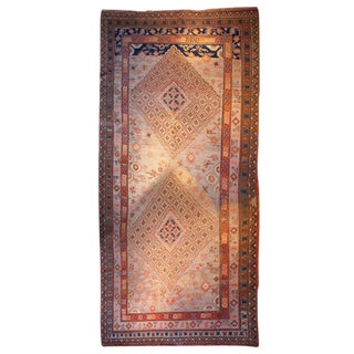 Early 20th Century Central Asian Khotan Carpet - 7′7″ × 15′7″ For Sale