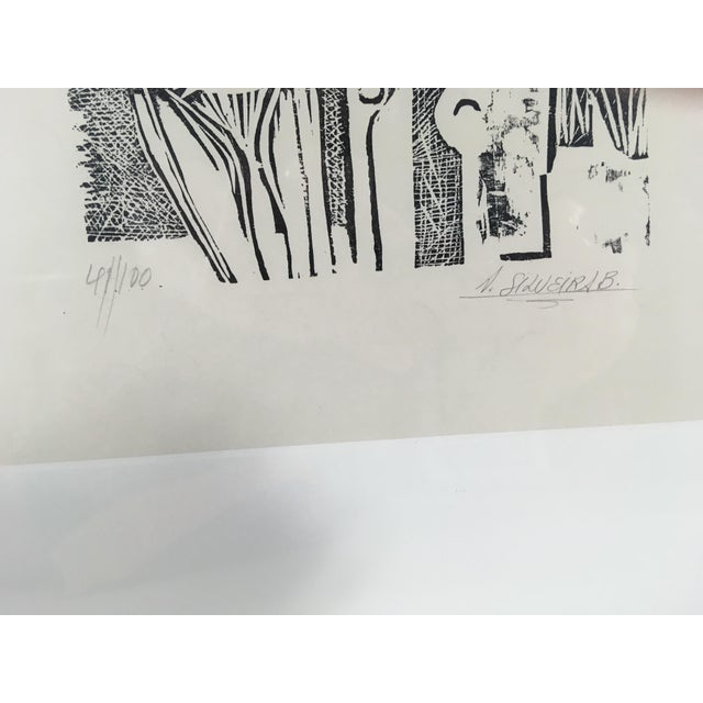 Impressionism South American Etching on Paper For Sale - Image 3 of 8