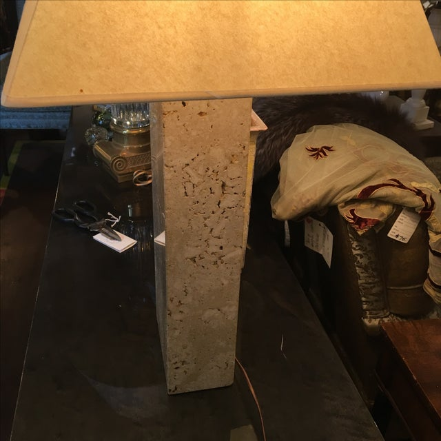 Modern Travertine Table Lamp - Image 4 of 8