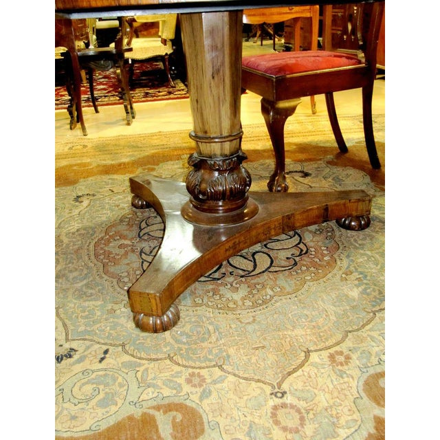 Regency Calamander Breakfast or Center Table With Brass Inlay For Sale - Image 4 of 6