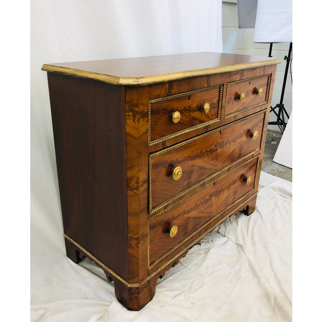 Antique Victorian Burl Chest For Sale - Image 4 of 7
