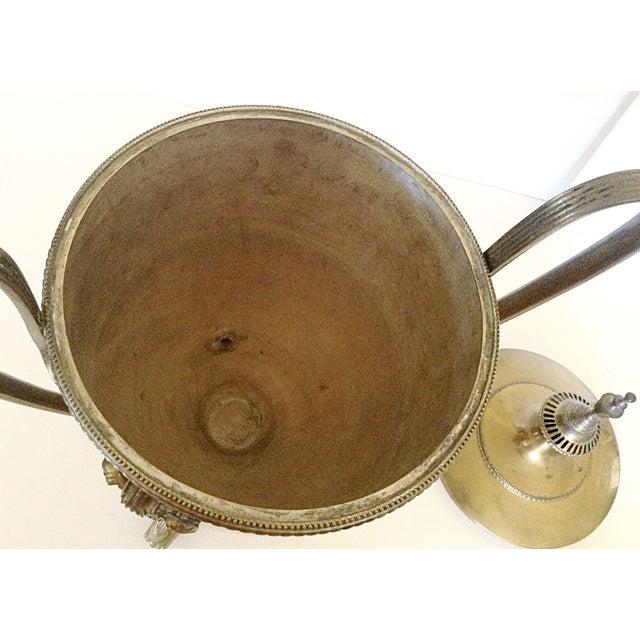 1940s Large Brass Serving Trophy Urn For Sale - Image 5 of 6