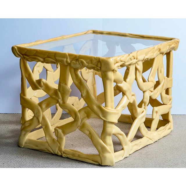 Mid-Century Modern Mid-Century Acrylic Ribbon End Tables, A-Pair For Sale - Image 3 of 13