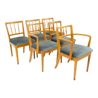Milo Baughman for Drexel New Todays Living Mid Century Spice Color Dining Chairs - Set of 6 For Sale