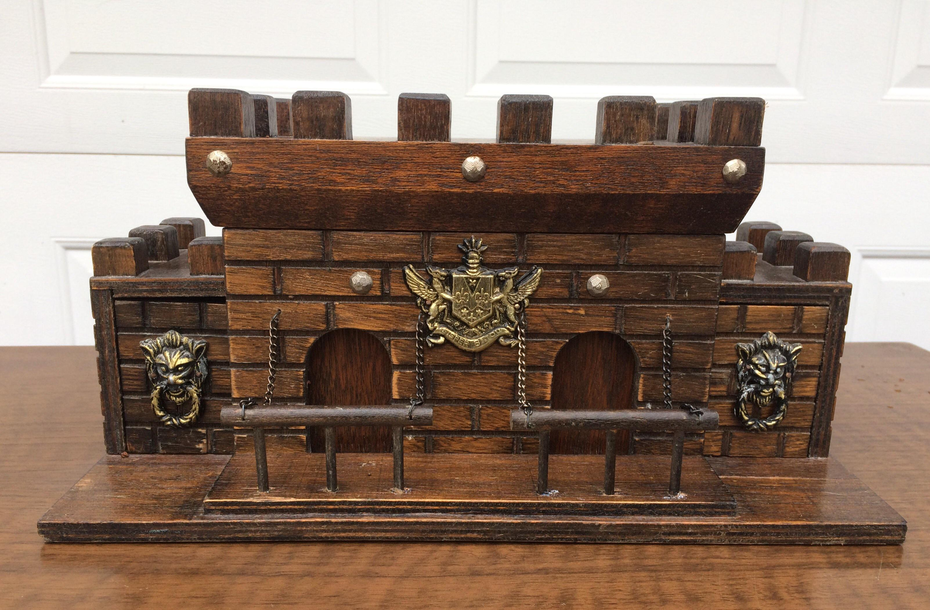 Vintage Wooden Castle Jewelry Box Chairish