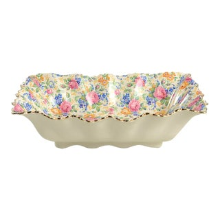 """James Kent Rosalynde 10"""" Rectangular Chintz Serving Bowl For Sale"""