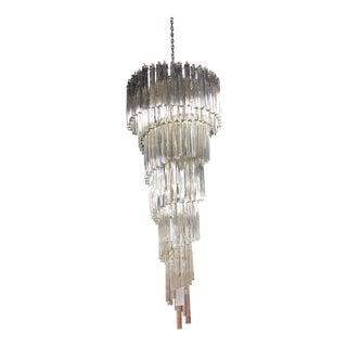 Vintage Murano Crystal Chandelier For Sale