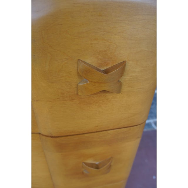 Heywood Wakefield Rio Champagne Maple Dresser For Sale - Image 10 of 11