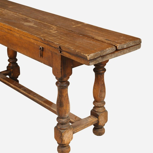 Wood French Folding Console Table For Sale - Image 7 of 8
