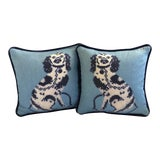 Image of Custom Staffordshire Dog Pillows - A Pair For Sale