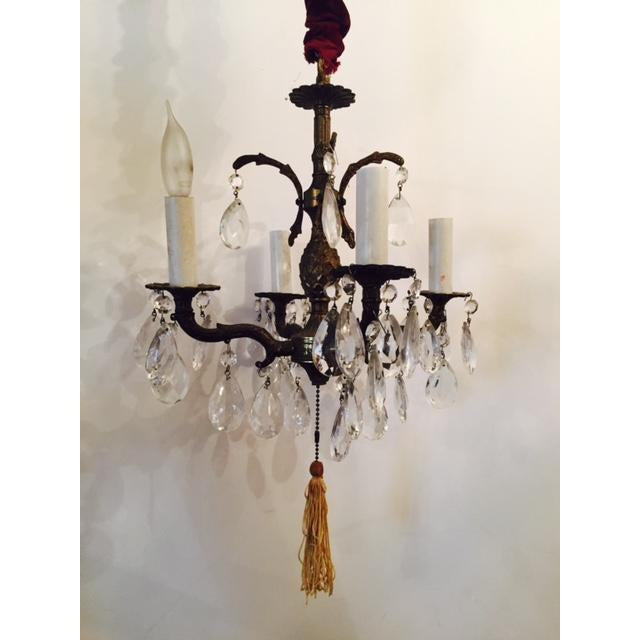 Victorian Antique Brass Pineapple Chandelier - Image 2 of 6