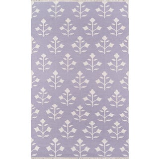Erin Gates Thompson Grove Lilac Hand Woven Wool Area Rug 2' X 3' For Sale
