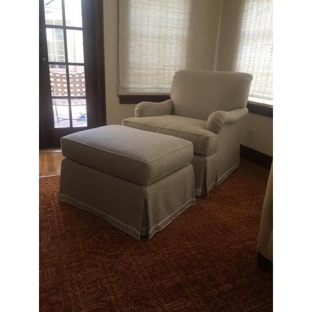 Classic Patricia Edwards Custom Chair & Ottoman Set - Image 3 of 8