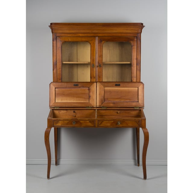 Wood Late 19th Century Antique French Country Style Slant Top Desk For Sale - Image 7 of 11