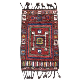 Central Asian Long Pile Rug - 3′4″ × 4′10″ For Sale