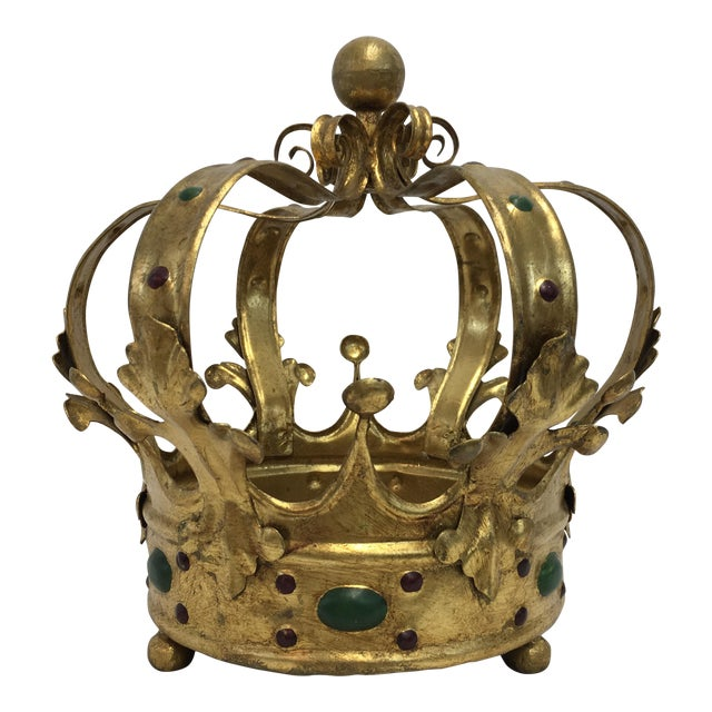 Florentine Gilt Metal Crown - Image 1 of 7
