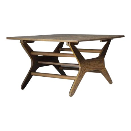 Klaus Grabe Rare Height-Adjustable Dining or Coffee Table, USA, 1950s For Sale