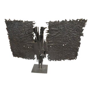 Brutalist Mid-century Bronze, T. Mori Untitled 1962 For Sale