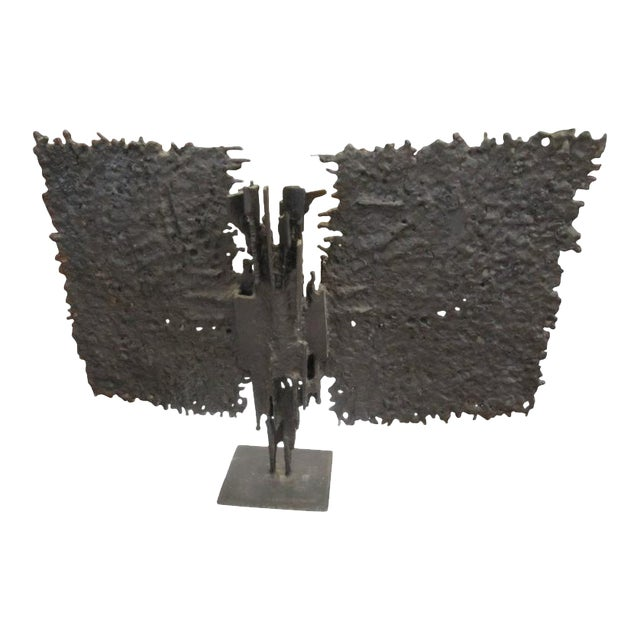 Brutalist Mid-century Bronze, T. Mori Untitled 1962 For Sale