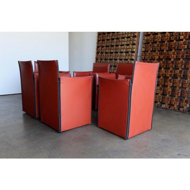 Brown Mario Bellini 'Break' Armchairs - Set of 6 For Sale - Image 8 of 13