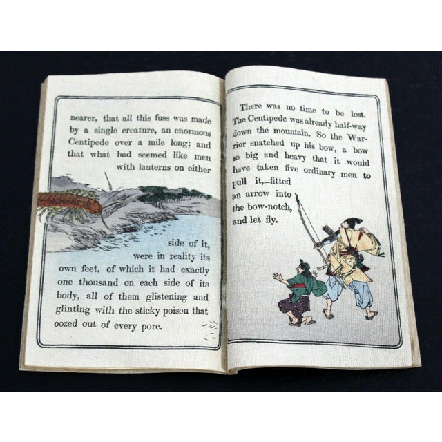Antique Japanese Cloth Fairy Tale Book For Sale In Detroit - Image 6 of 8