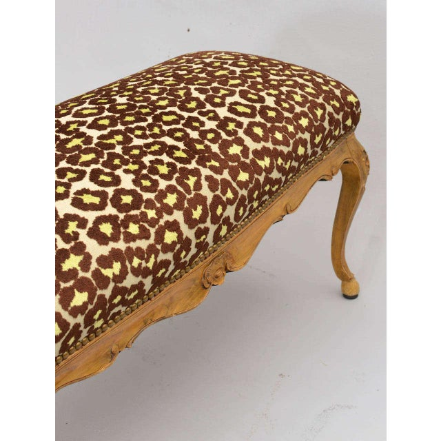 Early 20th Century Louis XV Style Upholstered Bench For Sale - Image 5 of 10