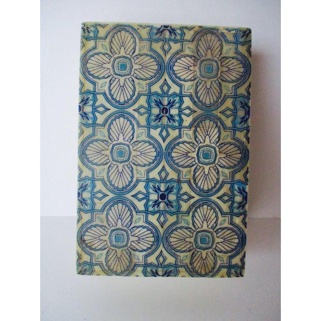 Blue & White Inlaid Bone Jewelry Box - Image 6 of 8