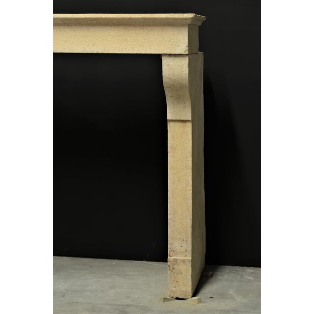 Mid 19th Century Antique French Limestone Fireplace Mantel, 19th Century For Sale - Image 5 of 8