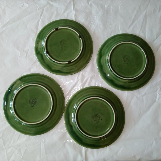 Transitional Late 20th Century Portuguese Decorative Plates - Set of 4 For Sale - Image 3 of 5
