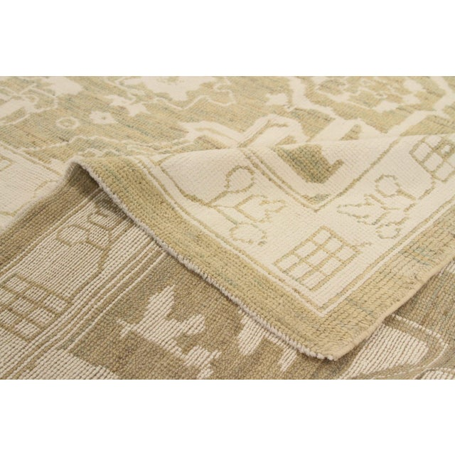 Contemporary Persian Oushak Rug - 10′ × 13′9″ For Sale - Image 4 of 12