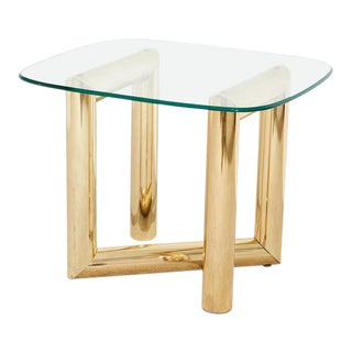 1970s Brass Side Table For Sale