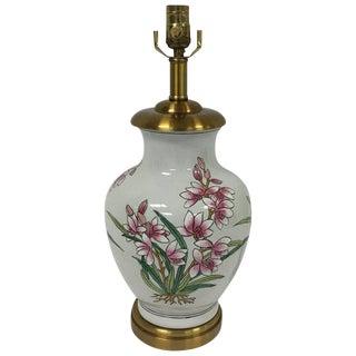 Maitland-Smith Ceramic Floral Lamp