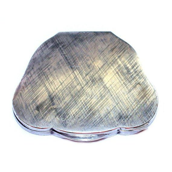 Vintage C.1940's Italian 800 Silver Compact For Sale - Image 4 of 5