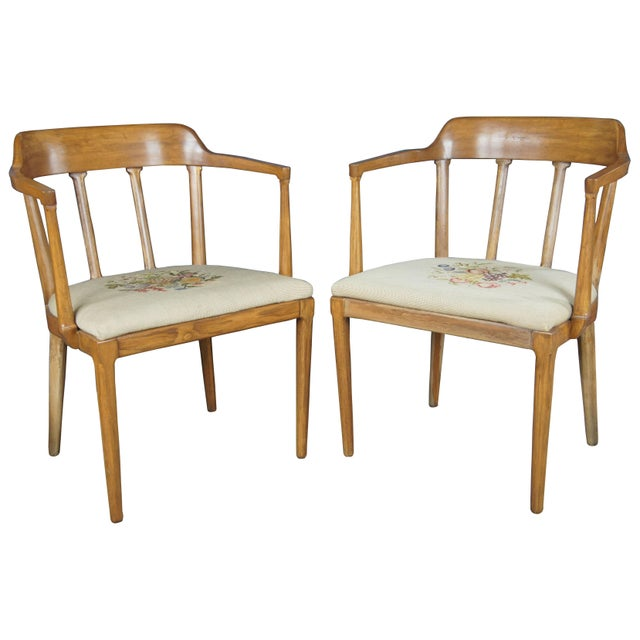 Mid Century Modern Tomlinson Walnut Dining Chairs- A Pair For Sale - Image 11 of 11