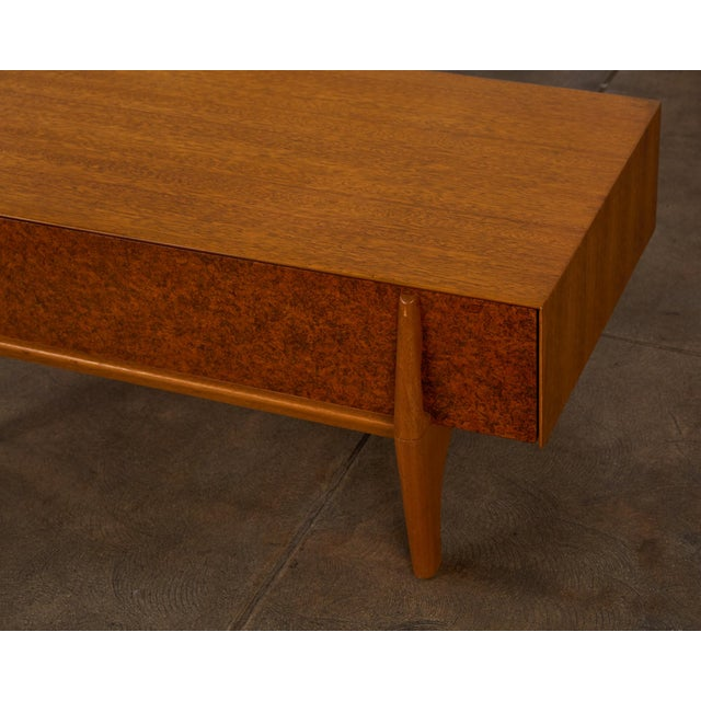 Single Bench With Storage by John Keal for Brown Saltman For Sale - Image 9 of 12