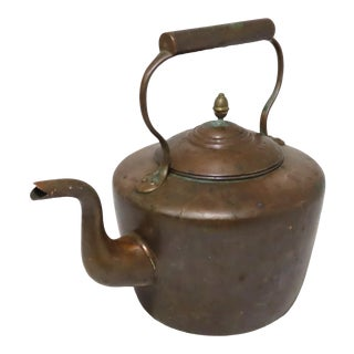Classic Style Antique Solid Copper Tea Kettle For Sale