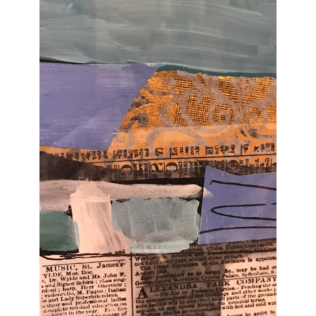 """Abstract Contemporary Collage, """"Stonington"""" For Sale - Image 3 of 4"""