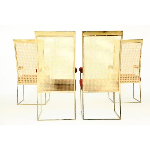 Mid-Century Modern Set of Milo Baughman Curved Back Dining Chairs For Sale - Image 3 of 10