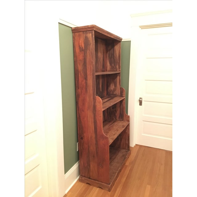 Antique Rustic Solid Wood Bookcase - Image 3 of 6