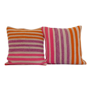 Peruvian Frazada Pillow Pair For Sale