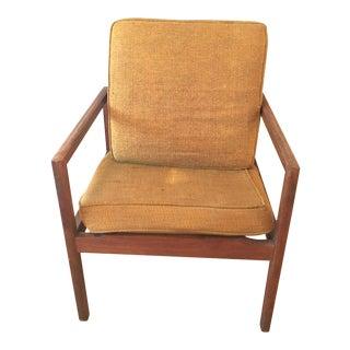 1970s Mid Century Modern Bentwood Stow Davis Wood Arm Side Chair