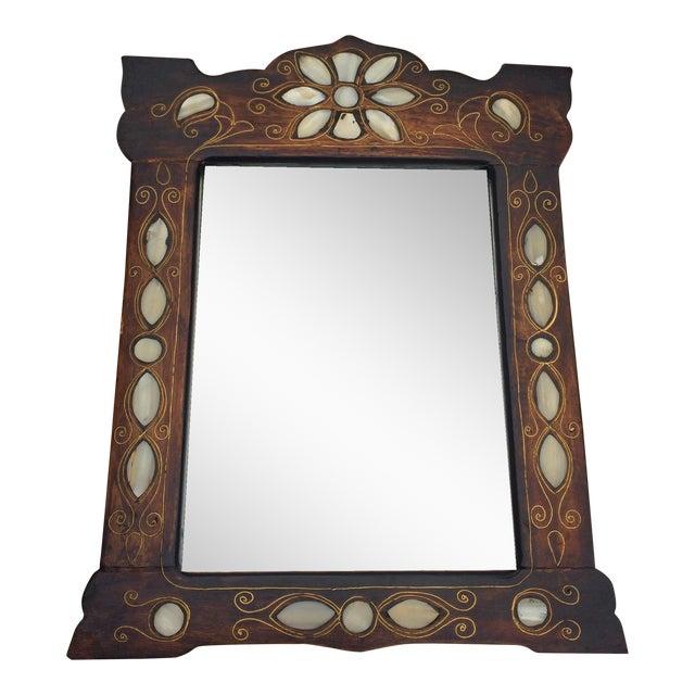 Turkish Mother Of Pearl Wood Framed Mirror Chairish