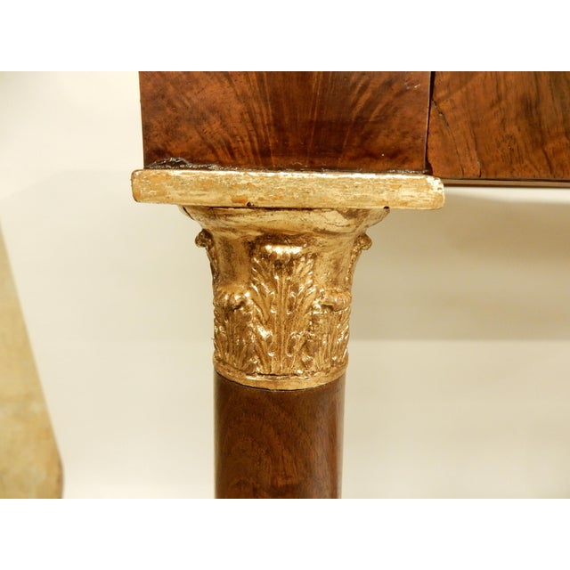French Empire Walnut Console For Sale In New Orleans - Image 6 of 10