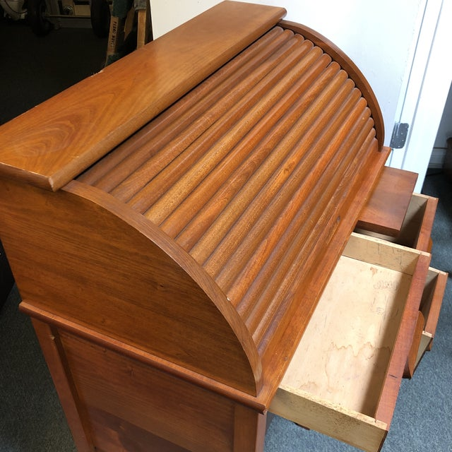 Brown Antique Miniature Roll Top Desk For Sale - Image 8 of 11