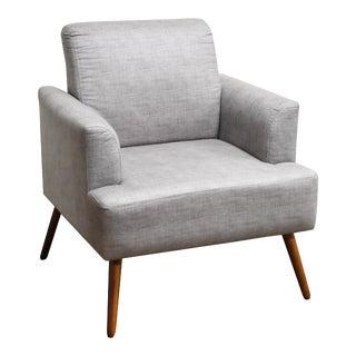 Modern Iris Dark Beige Armchair For Sale