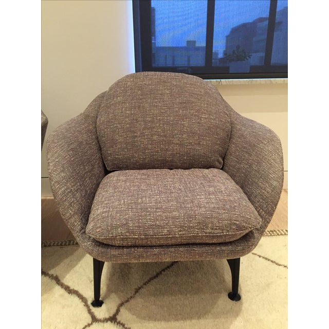 Cassina 399 VICO Gray Armchairs - A Pair - Image 2 of 6