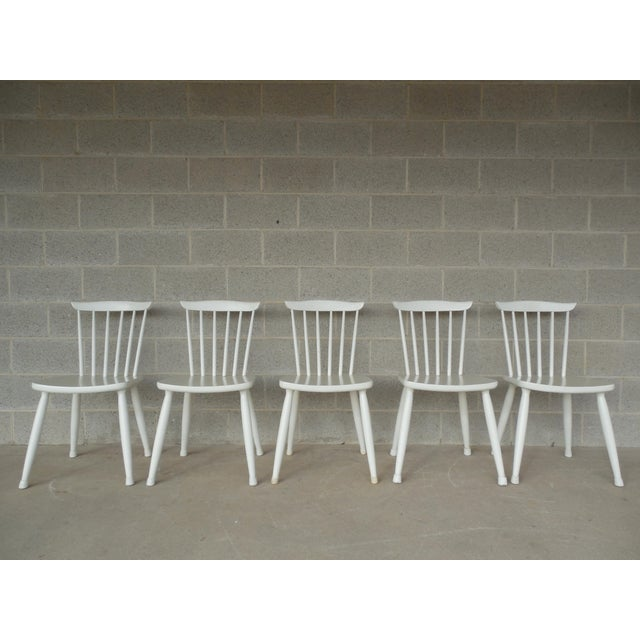 Paul McCobb Planner Group Factory Painted Side Chairs - Set of 5 - Image 2 of 7