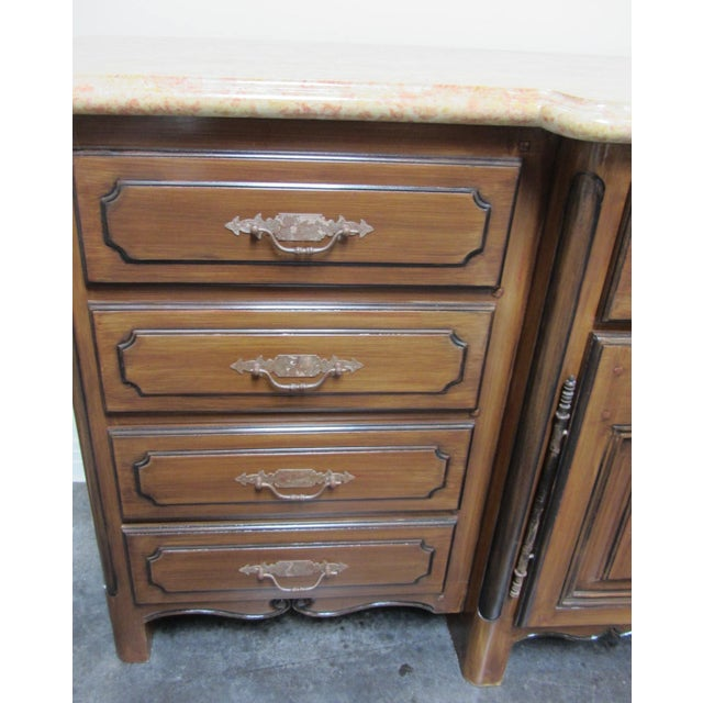 French Traditions Marble Top Buffet - Image 6 of 10